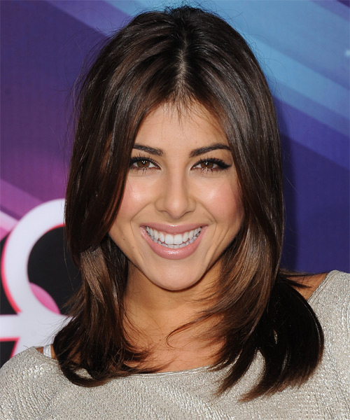 Daniella Monet Medium Straight Hairstyle - Dark Brunette (Chocolate)