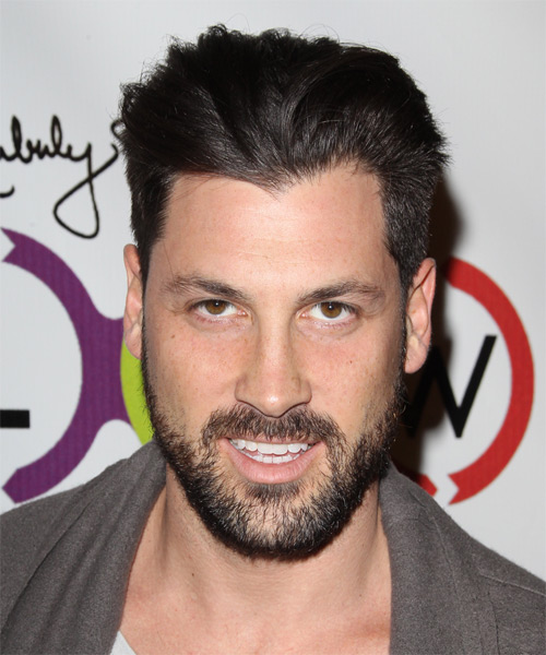 Maksim Chmerkovskiy Short Straight Formal Hairstyle - Dark Brunette Hair Color