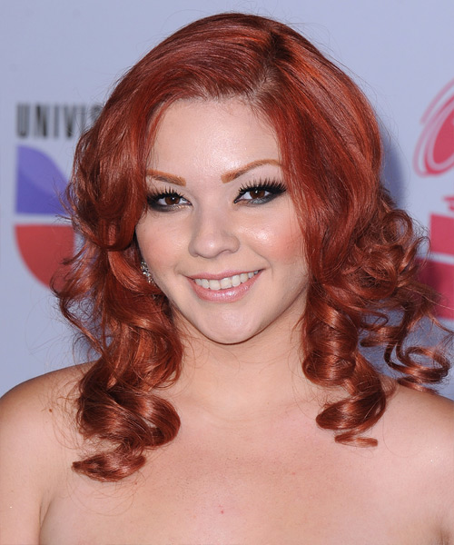 Marilyn Odessa Long Curly Casual Hairstyle - Medium Red Hair Color