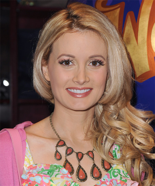 Holly Madison Long Wavy Hairstyle - Medium Blonde (Champagne)