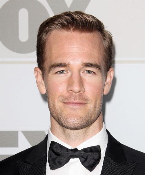 James Van Der Beek Short Straight Hairstyle - Light Brunette (Caramel)