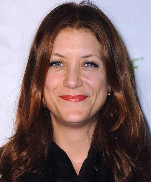 Kate Walsh Long Straight Hairstyle - Dark Red