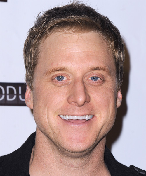 Alan Tudyk Short Straight Casual Hairstyle - Light Brunette Hair Color