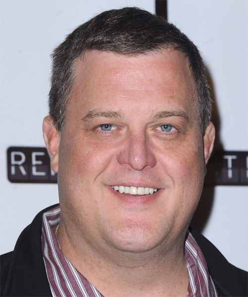 Billy Gardell Short Straight Hairstyle - Dark Grey