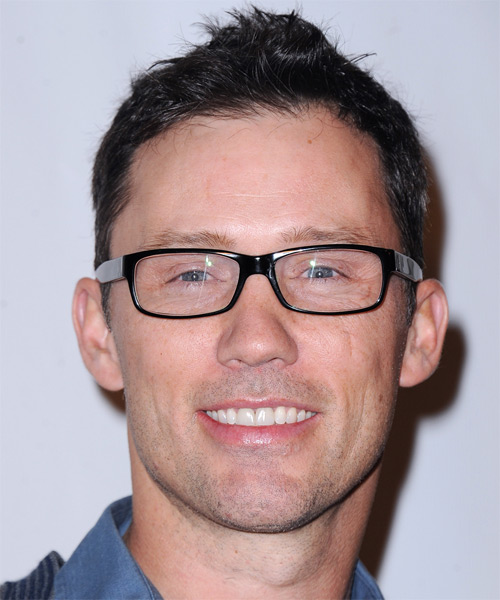 Jeffrey Donovan Short Straight Casual Hairstyle - Dark Brunette Hair Color