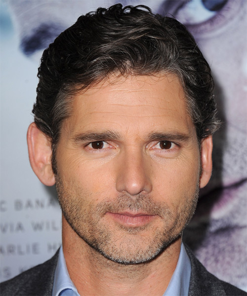 Eric Bana Short Wavy Casual Hairstyle - Dark Brunette Hair Color