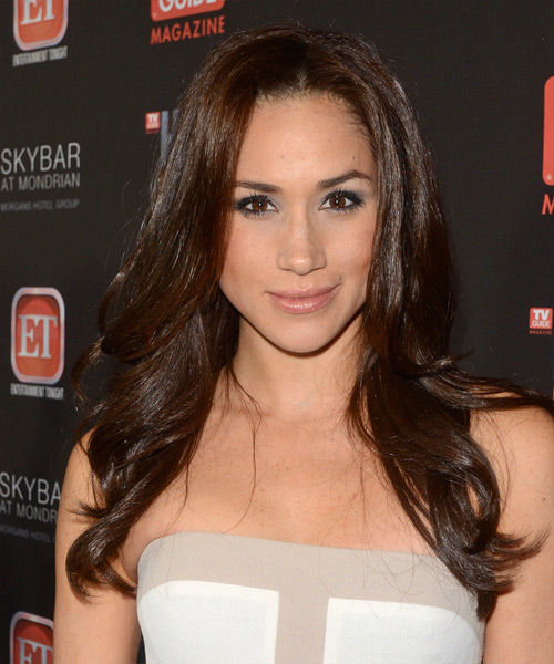 Meghan Markle Long Straight Formal Hairstyle - Dark Brunette (Mocha) Hair Color
