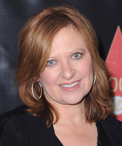 Caroline Manzo - Casual Medium Straight Hairstyle