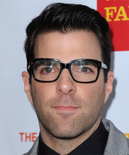 Zachary Quinto  Short Straight Formal Hairstyle - Black Hair Color