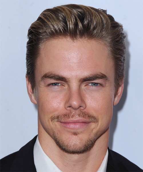 Derek Hough Short Straight Formal Hairstyle - Light Brunette Hair Color