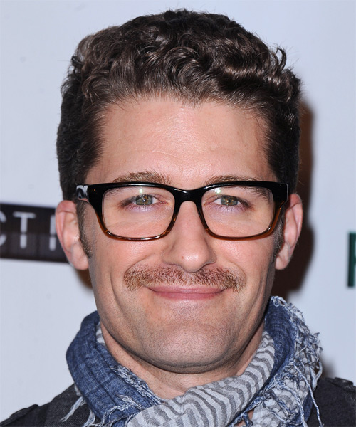 Matthew Morrison Short Wavy Casual Hairstyle - Medium Brunette Hair Color