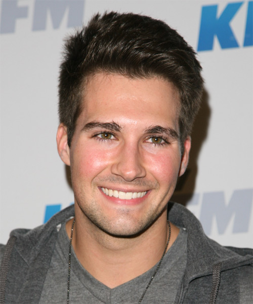 James Maslow Short Straight Hairstyle - Medium Brunette (Ash)