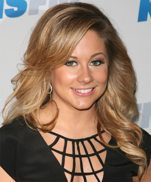 Shawn Johnson Long Wavy Casual Hairstyle - Dark Blonde (Golden) Hair Color