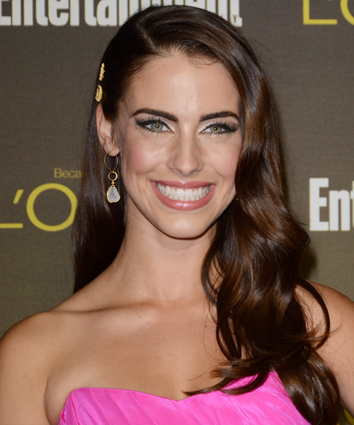 Jessica Lowndes Long Wavy Casual Hairstyle - Medium Brunette (Auburn) Hair Color