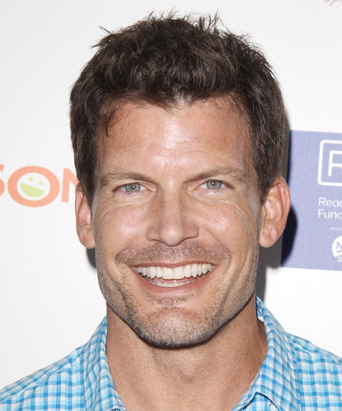Mark Deklin Short Straight Casual Hairstyle - Medium Brunette (Chocolate) Hair Color