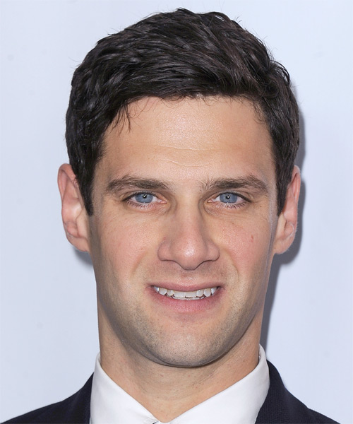 Justin Bartha Short Straight Formal Hairstyle - Dark Brunette Hair Color