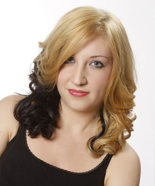 Medium Wavy Formal Hairstyle - Medium Blonde (Golden) Hair Color