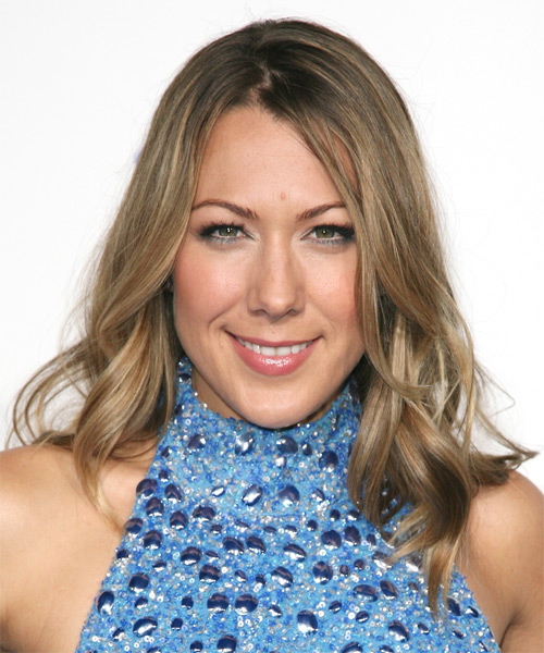 Colbie Caillat Medium Wavy Hairstyle - Medium Blonde (Ash)