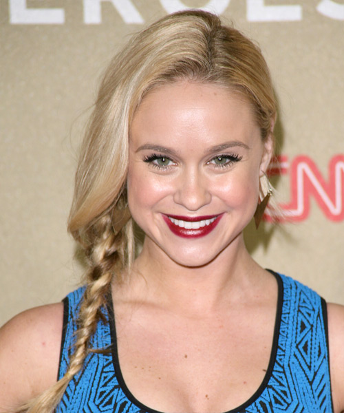 Becca Tobin - Casual Updo Long Straight Hairstyle