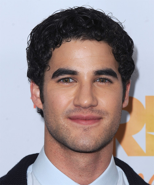 Darren Criss Short Curly Hairstyle - Black