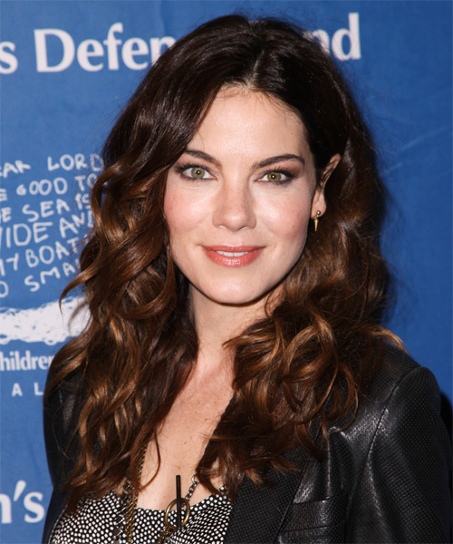 Michelle Monaghan Long Wavy Casual Hairstyle - Medium Brunette (Auburn) Hair Color
