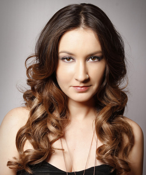 Long Wavy Formal Hairstyle - Medium Brunette (Chocolate)