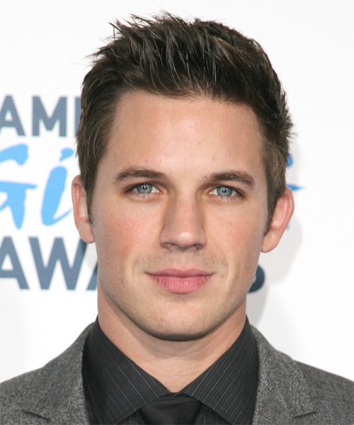Matt Lanter Short Straight Hairstyle - Dark Brunette (Ash)