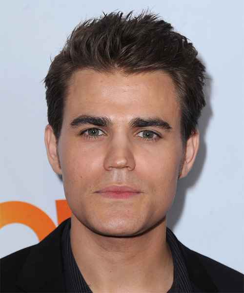 Paul Wesley Short Straight Hairstyle - Dark Brunette (Chocolate)