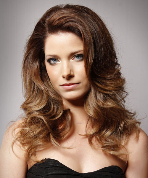 Long Wavy Formal Hairstyle - Medium Brunette (Chestnut) Hair Color
