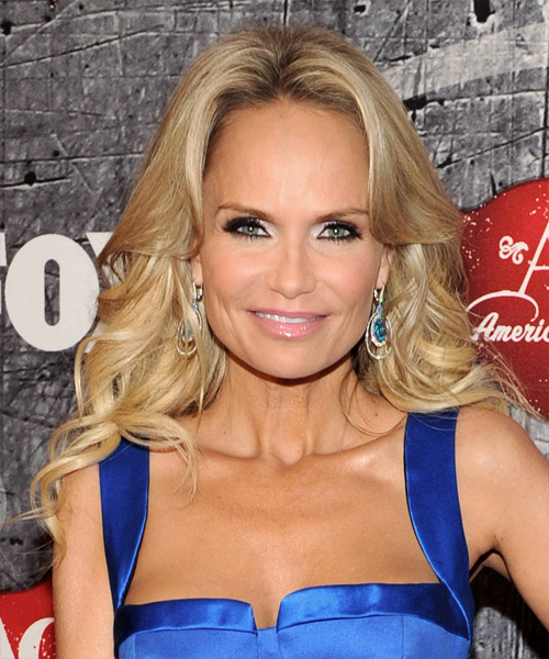 Kristin Chenoweth Long Wavy Formal Hairstyle - Medium Blonde (Honey) Hair Color