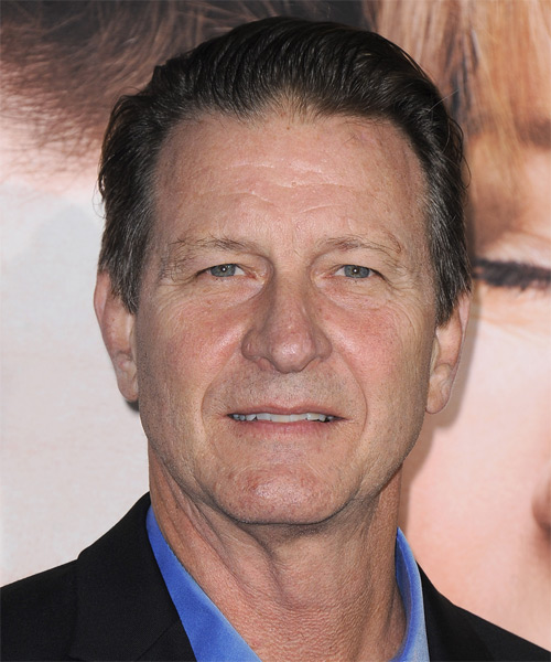 Brett Cullen Short Straight Hairstyle - Dark Brunette (Ash)