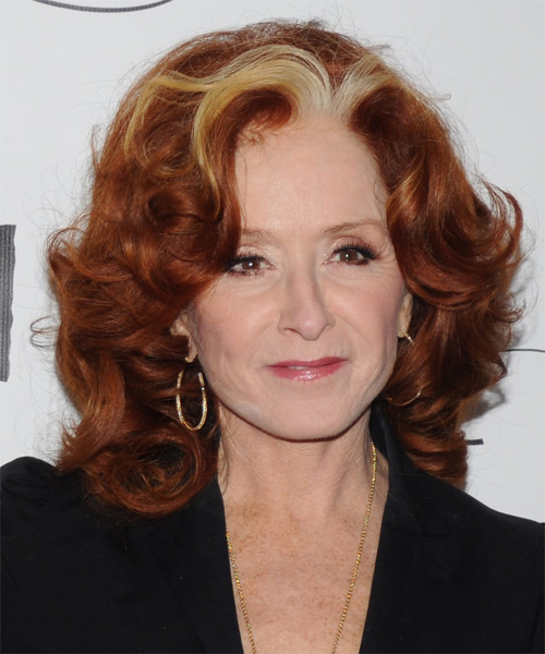 Bonnie Raitt Medium Wavy Formal Hairstyle