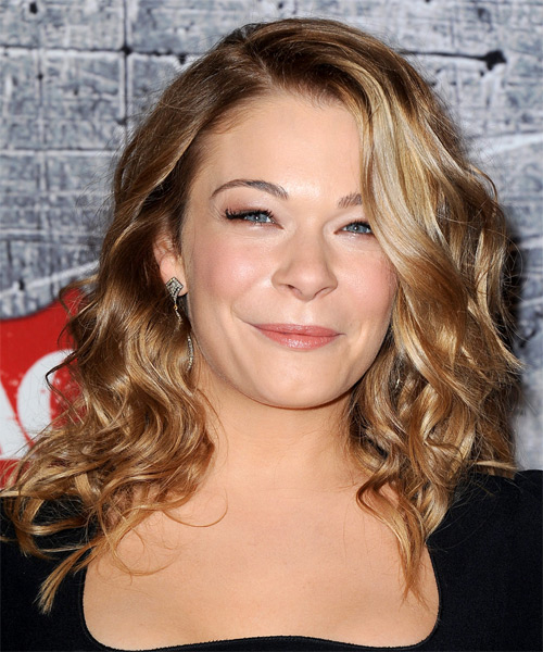 Leann Rimes Long Wavy Casual Hairstyle - Dark Blonde (Golden) Hair Color