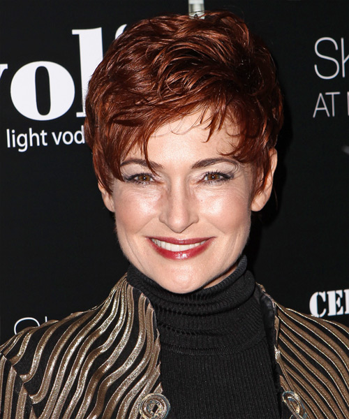 Carolyn Hennesy Short Straight Hairstyle - Medium Red