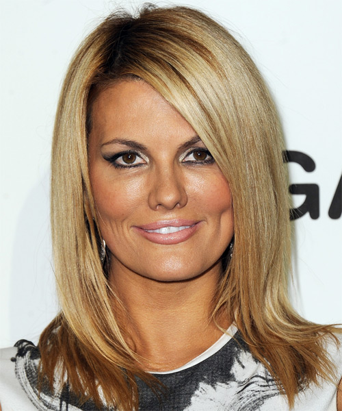 Courtney Hansen Medium Straight Casual Hairstyle - Dark Blonde (Golden) Hair Color