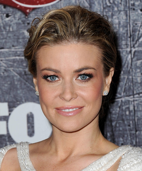 Carmen Electra Straight Formal Updo Hairstyle - Dark Blonde Hair Color