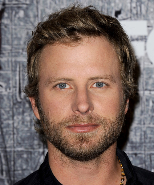 Dierks Bentley Short Straight Casual Hairstyle - Dark Blonde Hair Color