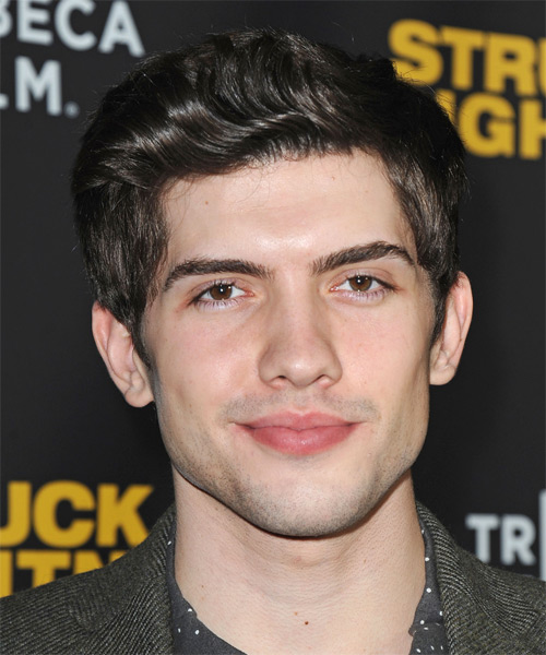 Carter Jenkins Short Wavy Formal Hairstyle - Dark Brunette Hair Color