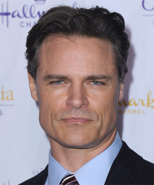 Dylan Neal Short Straight Formal Hairstyle - Dark Brunette Hair Color