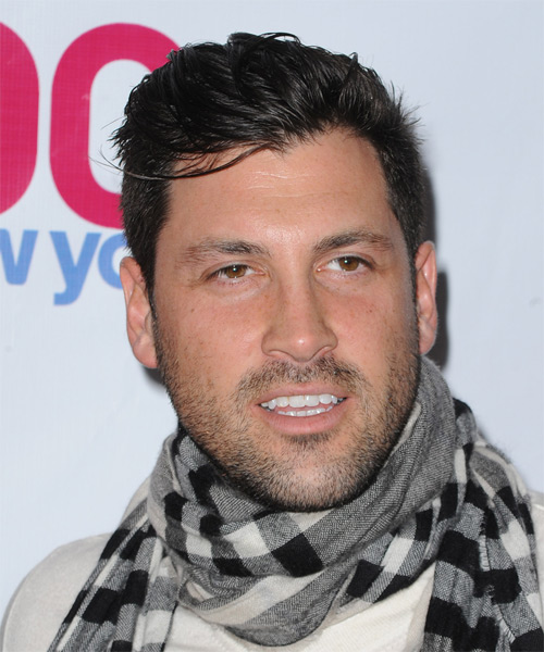 Maksim Chmerkovskiy - Casual Short Straight Hairstyle