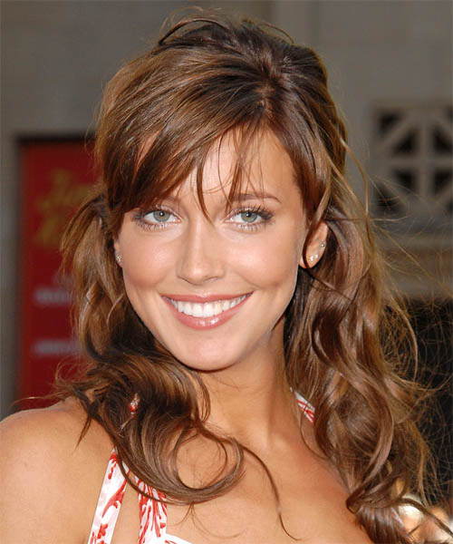 Katie Cassidy Curly Casual Half Up Hairstyle