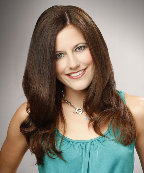 Long Straight Formal Hairstyle - Medium Brunette (Caramel) Hair Color
