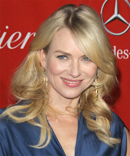 Naomi Watts Long Wavy Hairstyle - Medium Blonde