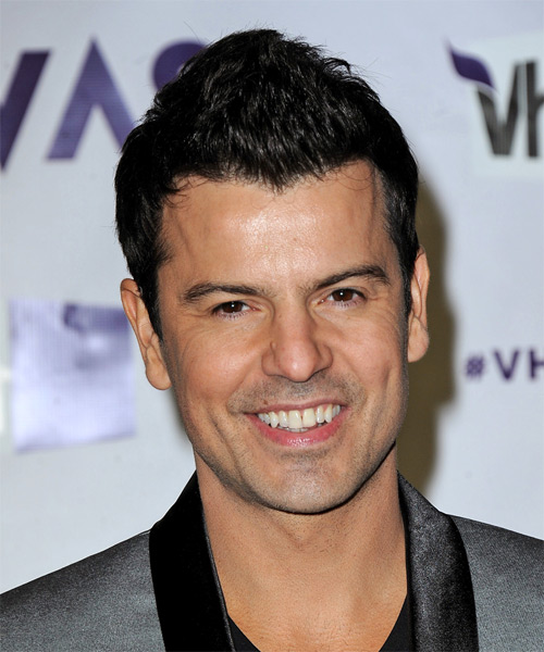 Jordan Knight Short Straight Casual Hairstyle - Black Hair Color
