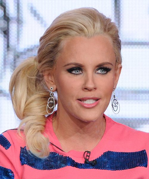 Jenny McCarthy Casual Curly Updo Hairstyle - Light Blonde