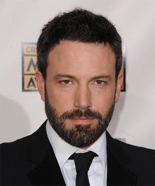 Ben Affleck Short Straight Casual Hairstyle - Black Hair Color