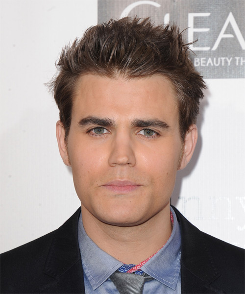 Paul Wesley Short Straight Hairstyle (Caramel)