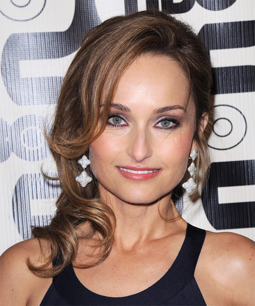 Giada De Laurentiis Long Wavy Formal Hairstyle - Medium Brunette (Chocolate) Hair Color