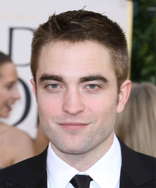 Robert Pattinson Short Straight Casual Hairstyle - Medium Brunette Hair Color
