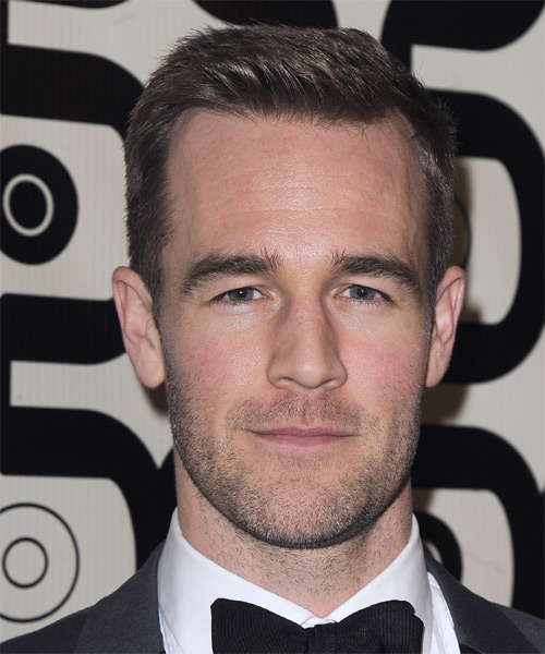 James Van Der Beek Short Straight Formal Hairstyle - Medium Brunette Hair Color